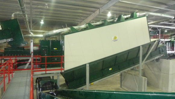 Air separator recycling
