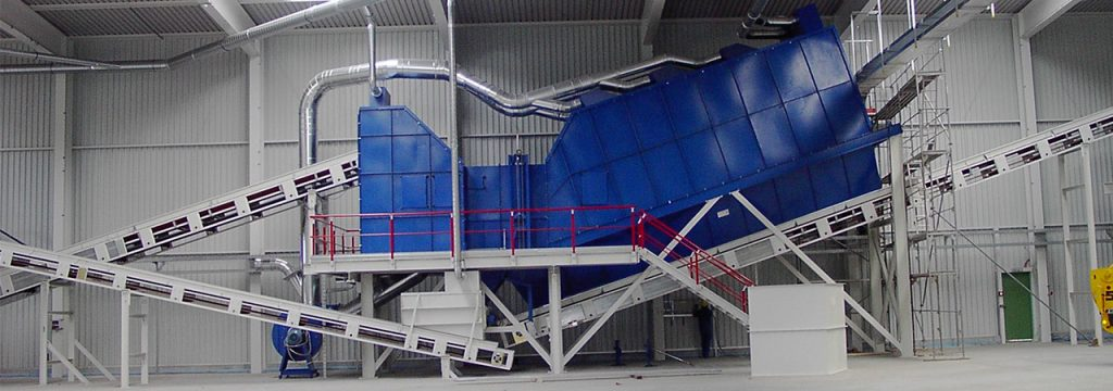 Air Separator For Separation Of Light And Heavy Material Bezner