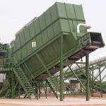Air separator bulk waste recycling