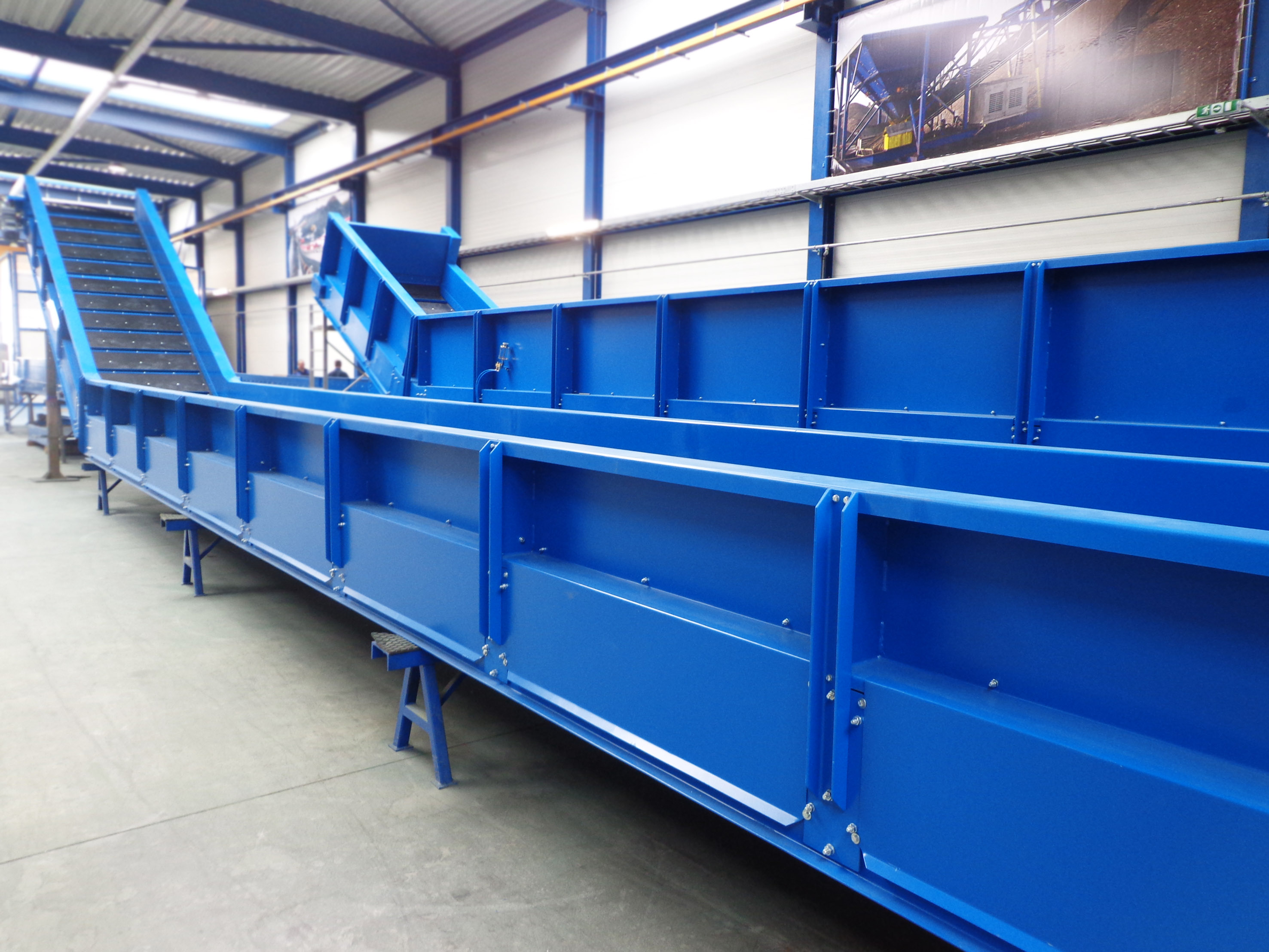 Conveyors for waste sorting plant