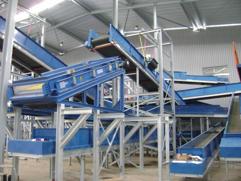installation de recyclage de déchets commerciaux et industriels