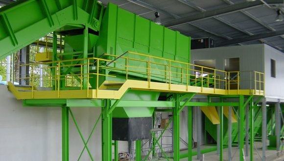 rotary drum screen waste sorting