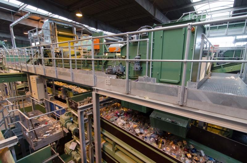 installation de recyclage de déchets mélangés ou combinés Bezner