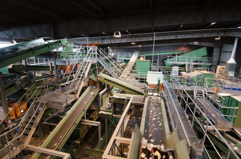 waste recycling machinery
