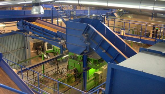 recycling plant for municipal solid waste