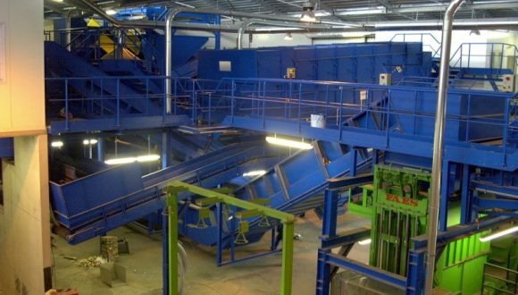 household waste sorting plant