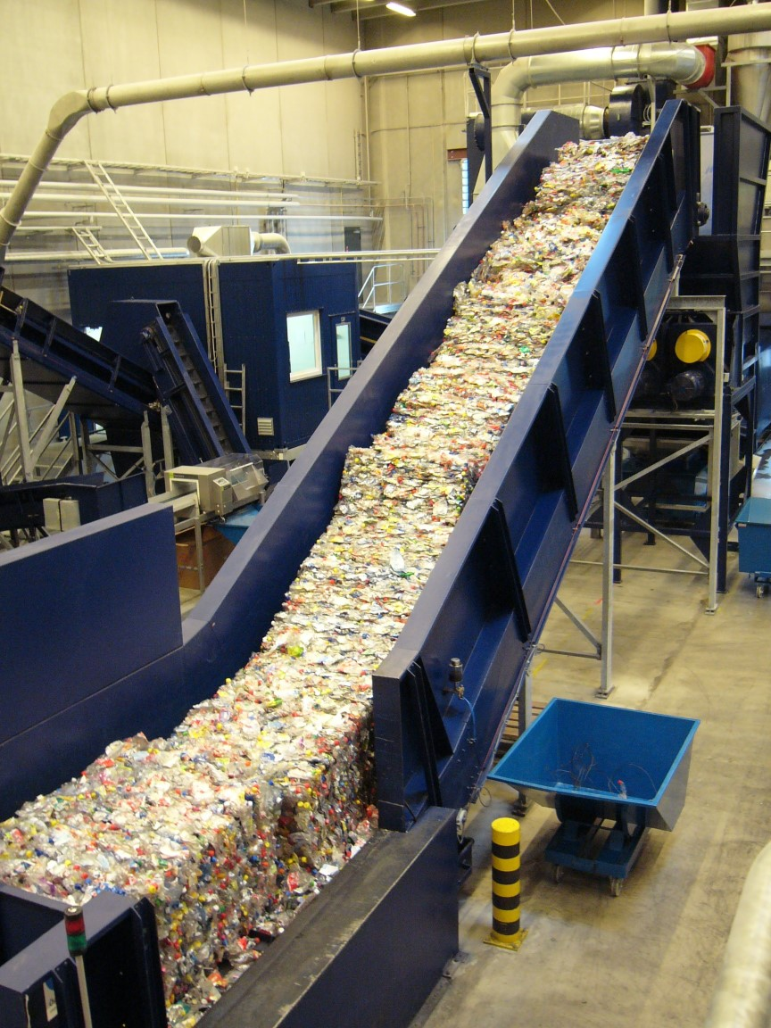 chain conveyor plastic recycling
