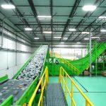 plastic recycling plant belt conveyor