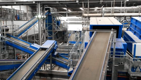 Recycling and Renewable Energy Center conveyors