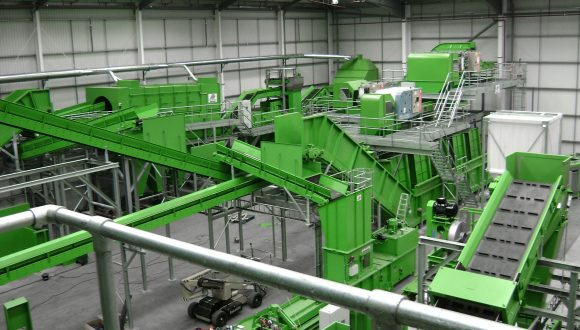 conveyor system plastic recycling plant