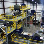 PET recycling line sorting