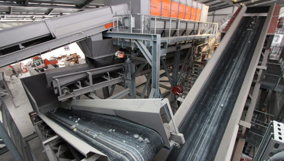 Recycling plant for industrial waste