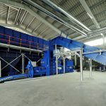 chain conveyor Sorting plant for municipal solid waste