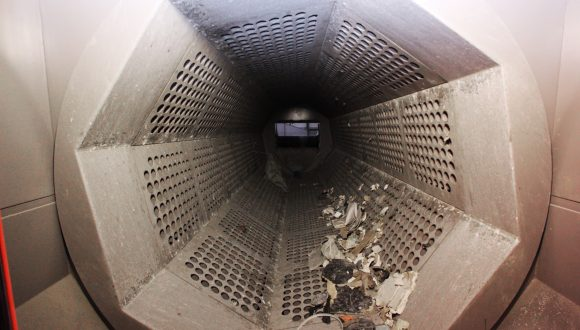 drum screenfor industrial and demolition waste