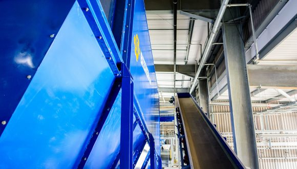 belt conveyor sorting plant
