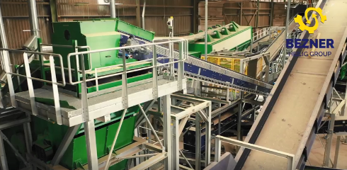 Mixed waste sorting installation — video