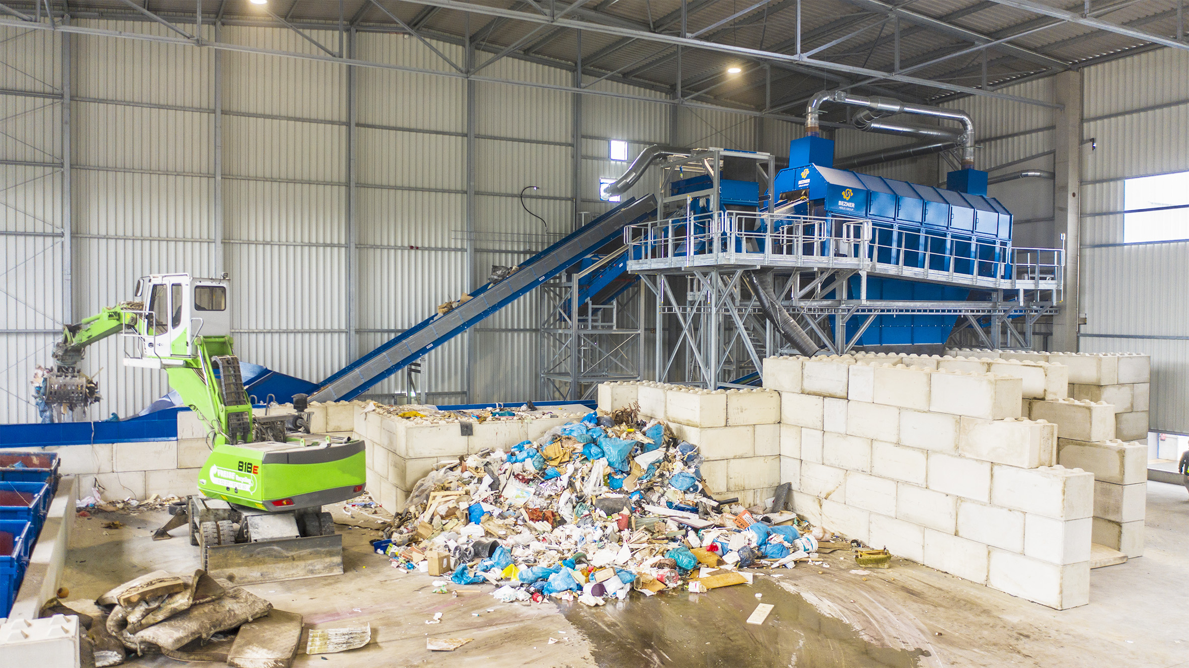 Commercial waste sorting plant