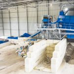 sorting plant for commercial waste